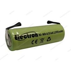 Batteria Ni-Mh 4/5 AA 1,2V 1200mAh con terminali a saldare