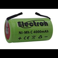 Batteria Ni-Mh 1/2 torcia C 1,2V 4000mAh con terminali