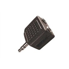 Sdoppiatore jack da spina 3,5mm stereo a 2 prese jack 3,5mm stereo
