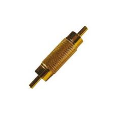 Adattatore RCA spina/spina dorato