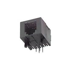 Presa telefonica da circuito stampato 6/6 a basso profilo
