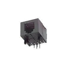 Presa telefonica da circuito stampato 6/4 RJ11 a basso profilo