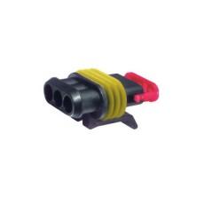 Connettore portafemmine amp serie super seal 1,5 a 2 vie