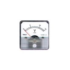Voltmetro a bobina mobile per misure in corrente continua. Portata 0 - 15V