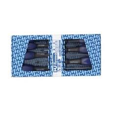 Set 7 cacciaviti - 4 a taglio 3-4-5,5-6,5mm e 3 a croce PH0-PH1-PH2