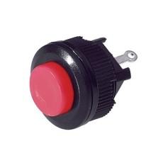Interruttore a pulsante normalmente chiuso con tasto rosso - diametro 16mm - 250V 1A