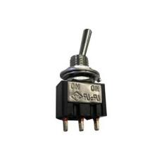 Deviatore a leva in miniatura 1 scambio 3 posizioni MOM-OFF-MOM con autoritorno in materiale termoplastico con terminali a saldare - 250V 3A - 125V 6A