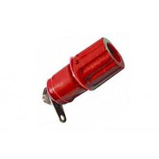Morsetto serrafilo isolato rosso da pannello per spina a banana - diametro 4mm