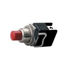 Interruttore a pulsante normalmente chiuso con tasto rosso - diametro 12mm - 250V 4A