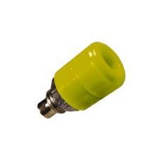 Boccola isolata gialla per spina a banana - diametro 4mm