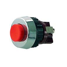 Interruttore a pulsante normalmente chiuso con tasto rosso - diametro 19mm - 250V 0,7A