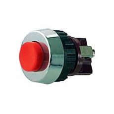 Interruttore a pulsante normalmente aperto con tasto rosso - diametro 19mm - 250V 0,7A