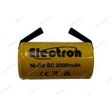Batteria Ni-Cd Tipo SC 1,2V 2000mAh con terminali - Electron