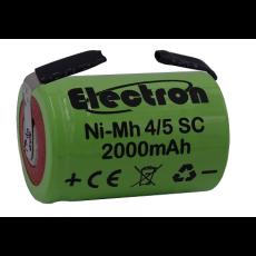 Batteria Ni-Mh 4/5 SC 1,2V 2000mAh con terminali