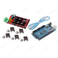 Ramps 1.4 + 5 driver DRV8825 con dissipatore + Arduino MEGA 2560 R3 CH340 clone + cavo USB