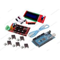 Ramps 1.4 + 5 driver DRV8825 con dissipatore + Arduino MEGA 2560 R3 CH340 clone + cavo USB + Controller per stampa autonoma con display grafico 20x4