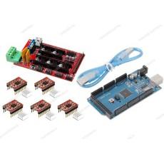 Ramps 1.4 + 5 driver A4988 con dissipatore + Arduino MEGA 2560 R3 CH340 clone + cavo USB