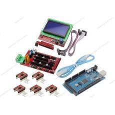 Ramps 1.4 + 5 driver A4988 con dissipatore + Arduino MEGA 2560 R3 CH340 clone + cavo USB + Controller per stampa autonoma con display grafico 128x64