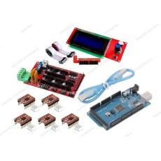 Ramps 1.4 + 5 driver A4988 con dissipatore + Arduino MEGA 2560 R3 CH340 clone + cavo USB + Controller per stampa autonoma con display grafico 20x4