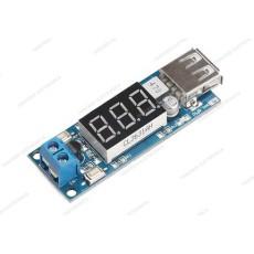Convertitore DC-DC step down USB con voltmetro con uscita 5V 2A