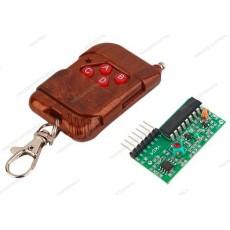 Trasmettitore e ricevitore a 4 canali per controllo remoto