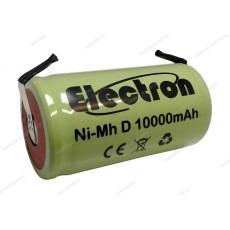 Batteria Ni-Mh Torcia D 1,2V 10000mAh con terminali a saldare