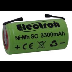 Batteria Ni-Mh Tipo SC 1,2V 3300mAh con terminali