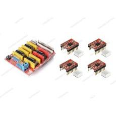 CNC shield V3 + 4 driver A4988 con dissipatore
