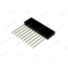 Connettore a striscia femmina da circuito stampato con contatti lunghi a 10 poli
