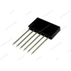 Connettore a striscia femmina da circuito stampato con contatti lunghi a 6 poli