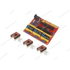 CNC shield V4 + 3 driver A4988 con dissipatore