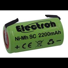 Batteria Ni-Mh Tipo SC 1,2V 2200mAh con terminali a saldare