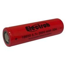 Batteria Li-ion LIR 18650 3,7V 2600mAh 20A 8C