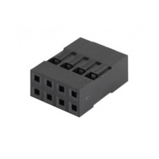 Connettore dupont a 8 poli (4x2 file) - confezione da 10pz