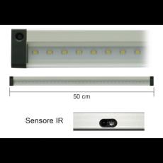 Barra a led 50cm 5W 3000K con sensore IR