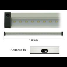 Barra a led 100cm 10W 3000K con sensore IR