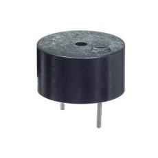 Mini buzzer piezoelettrico da circuito stampato diam. 14mm 1-20V