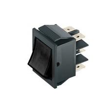 Deviatore a bilanciere bipolare a 2 posizioni con tasto nero - 250V 15A - 125V 20A