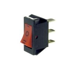 Deviatore a bilanciere unipolare a 3 posizioni con tasto rosso - 250V 16A