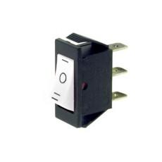 Deviatore a bilanciere unipolare a 3 posizioni con tasto bianco - 250V 16A