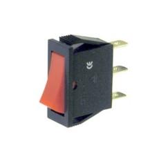 Deviatore a bilanciere unipolare a 2 posizioni con tasto rosso - 250V 16A