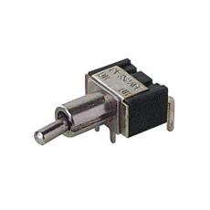 Deviatore a leva in miniatura 1 scambio 2 posizioni ON-ON in materiale termoplastico da circuito stampato a 90 - 250V 3A - 125V 6A