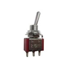 Deviatore a leva in miniatura 1 scambio 2 posizioni ON-ON in nylon con terminali a saldare - 250V 3A - 125V 6A