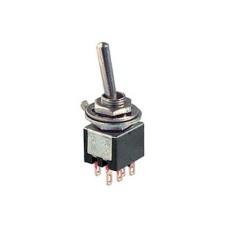 Deviatore a leva in subminiatura 2 scambi 2 posizioni ON-ON in materiale termoplastico con terminali a saldare - 250V 1,5A - 125V 3A