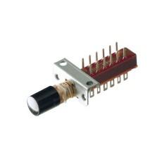 Deviatore a pulsante quadripolare - Vca 250V 0,2A - Vcc 50V 0,5A