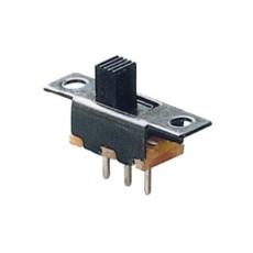 Deviatore a slitta unipolare a 2 posizioni da circuito stampato - 30Vcc 0,3A