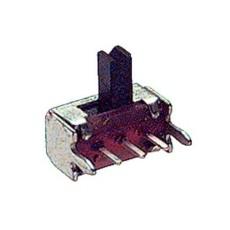 Deviatore a slitta unipolare a 2 posizioni da circuito stampato a 90° - 30Vcc 0,3A