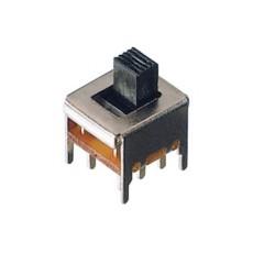 Deviatore a slitta bipolare a 2 posizioni da circuito stampato - 30Vcc 0,3A