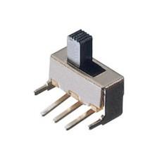 Deviatore a slitta bipolare a 2 posizioni da circuito stampato a 90° - 30Vcc 0,5A