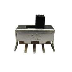 Deviatore a slitta unipolare a 2 posizioni da circuito stampato a 90° - 220Vca 0,2A